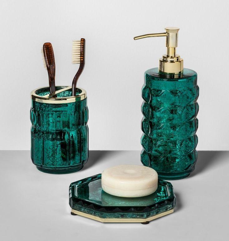 23 Things That Ll Make Your Bathroom Look Its Best In 2020 Green Bathroom Accessories Green Bathroom Green Bathroom Decor