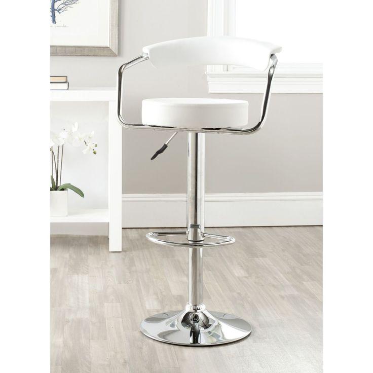 Safavieh Angus White Adjustable 25-32-inch Swivel Bar Stool (FOX7511A) (  sc 1 st  Pinterest & Best 25+ 32 inch bar stools ideas on Pinterest | Wood bar stools ... islam-shia.org