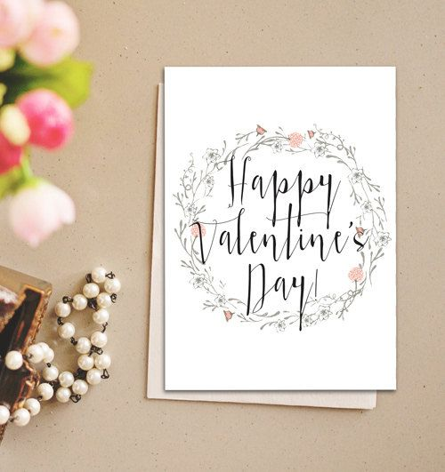 Valentine Greeting Card,  Anniversary Card, Love Card, Heart Card Instant download,