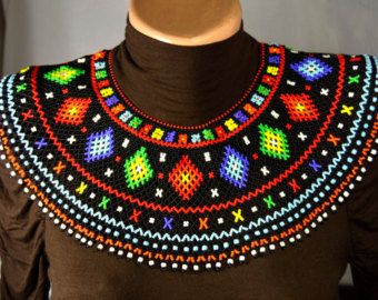 Ucraniano tradicional con cuentas collar por NakaHandMadeShop