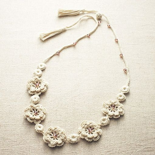 crocheted necklace                                                       …