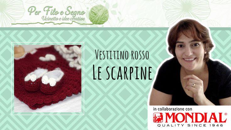 Le scarpine - Set Vestitino Rosso  www.perfiloesegno.com