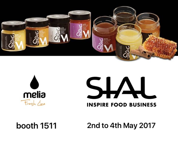 Melia Freshline Inc. brings MeliraHoney to SIAL CANADA Food Expo, in Toronto.  >  Try the delicious Greek Melira Honey at Melia's booth 1511 at SIAL Food Expo, 2-4 May 2017.