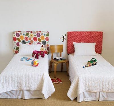 bright fabric headboards for kids