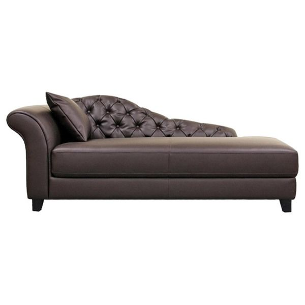 Josephine Brown Faux Leather Victorian Chaise Lounge Chair - Overstock™ Shopping - Big Discounts on Baxton Studio Lounge Chairs