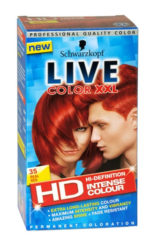 Schwarzkopf live color xxl hd hair colour 35 real red