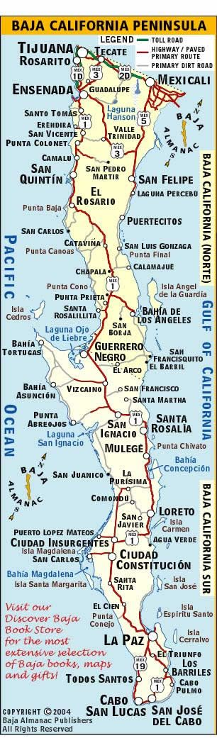 Baja California Map - VISIT: Dental Tourism News Co to find the best Board…