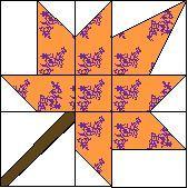 1999 - Autumn Leaf free pattern - templates compuquilt.com