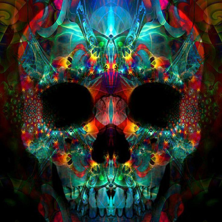 trippy skull skulls