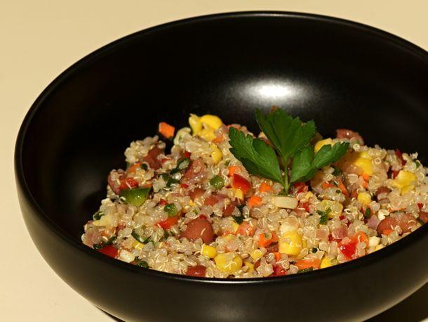 Confetti Quinoa Salad... great make ahead salad for camping, picnics or potlucks