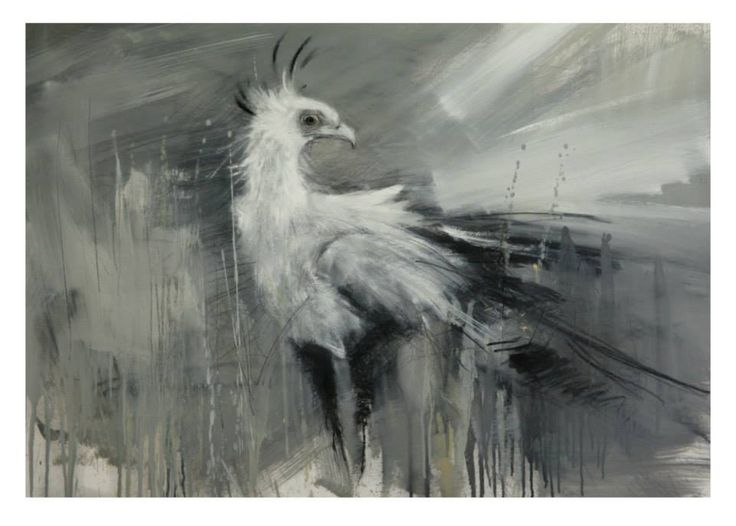 Peter Hall, charcoal and oils on paper