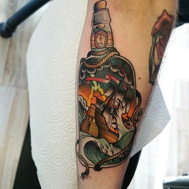 673 best images about in a bottle tattoos on pinterest for Tattoo school edmonton