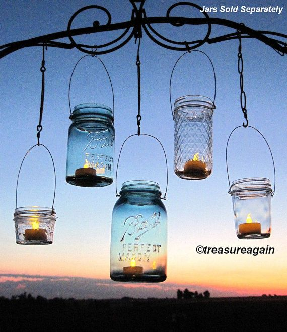 Hanging Lanterns 20 DIY Mason Jar Hangers Outdoor Wedding Mason Jar Candle Holders DIY , No Jars on Etsy, $60.00
