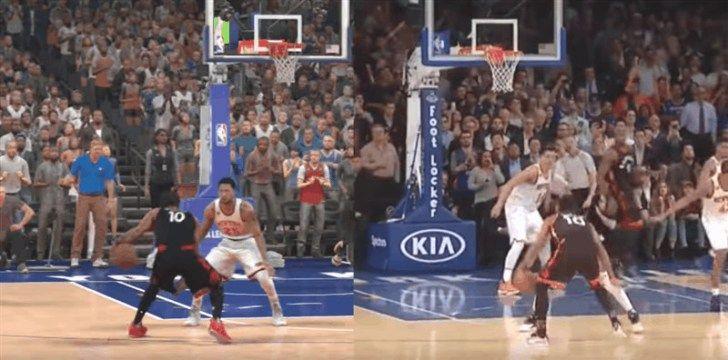 NBA 2K17 vs Real Basketball