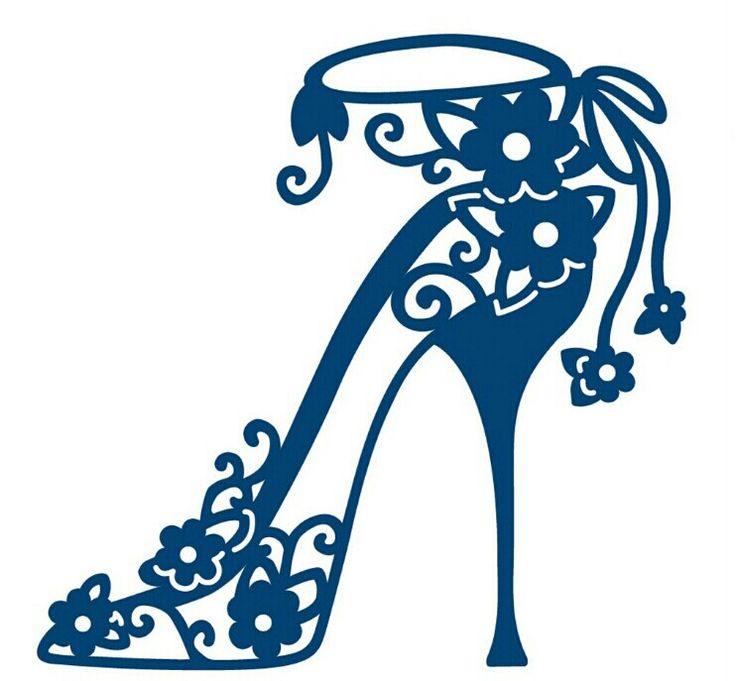 zapato de tacón ornamental