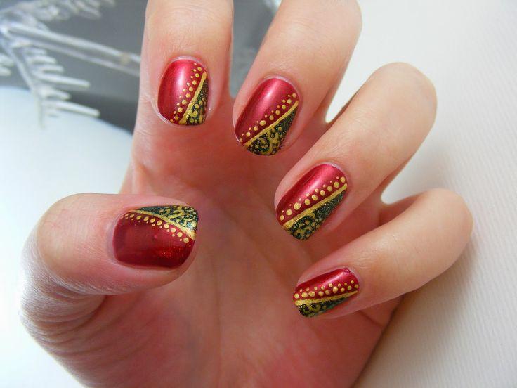 Art Evolve:  Christmas #nail #nails #nailart