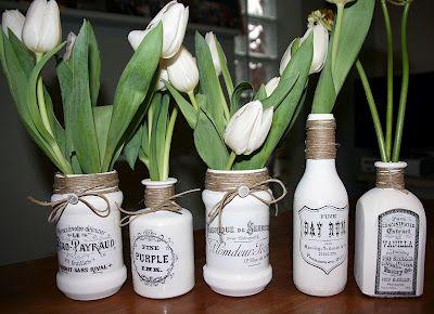 Brag Monday - Decoupage Vases & Elephant Card - The Graphics Fairy