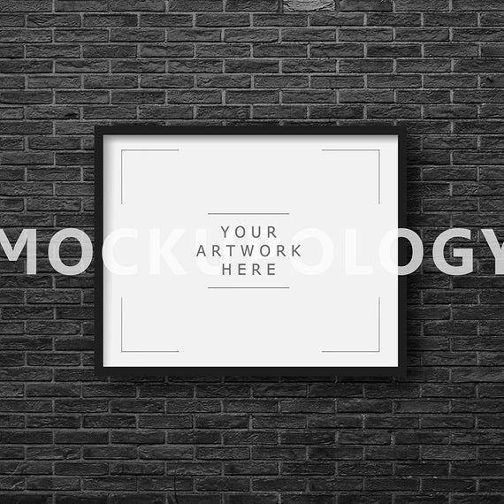 Download Poster Mockup Free Horizontal Yellowimages