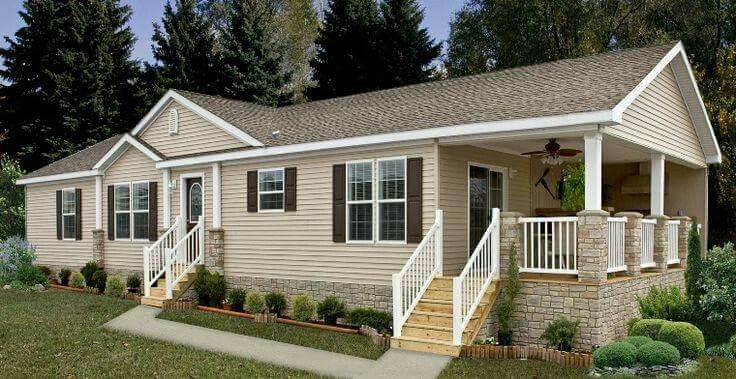 44 best double wide mobile homes images on pinterest for Pictures of porches on mobile homes