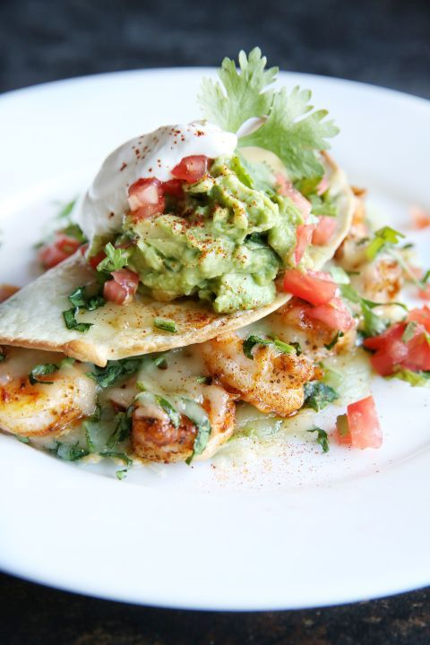 Kick up your quesadilla game with spicy shrimp. Get the recipe:Old Bay Shrimp Quesadillas