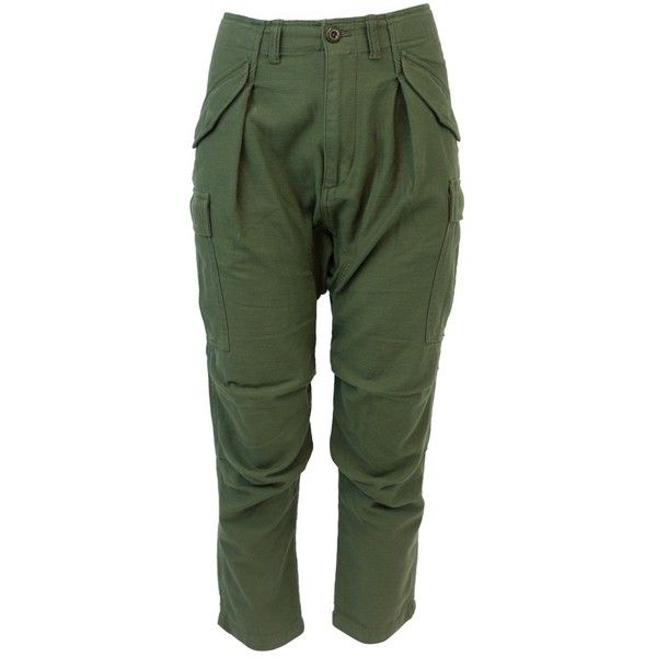 Pre-owned Nlst Harem ($150) ❤ liked on Polyvore featuring pants, khaki, women clothing trousers, green pants, cargo pants, cotton harem pants, khaki cargo pants and green cargo pants