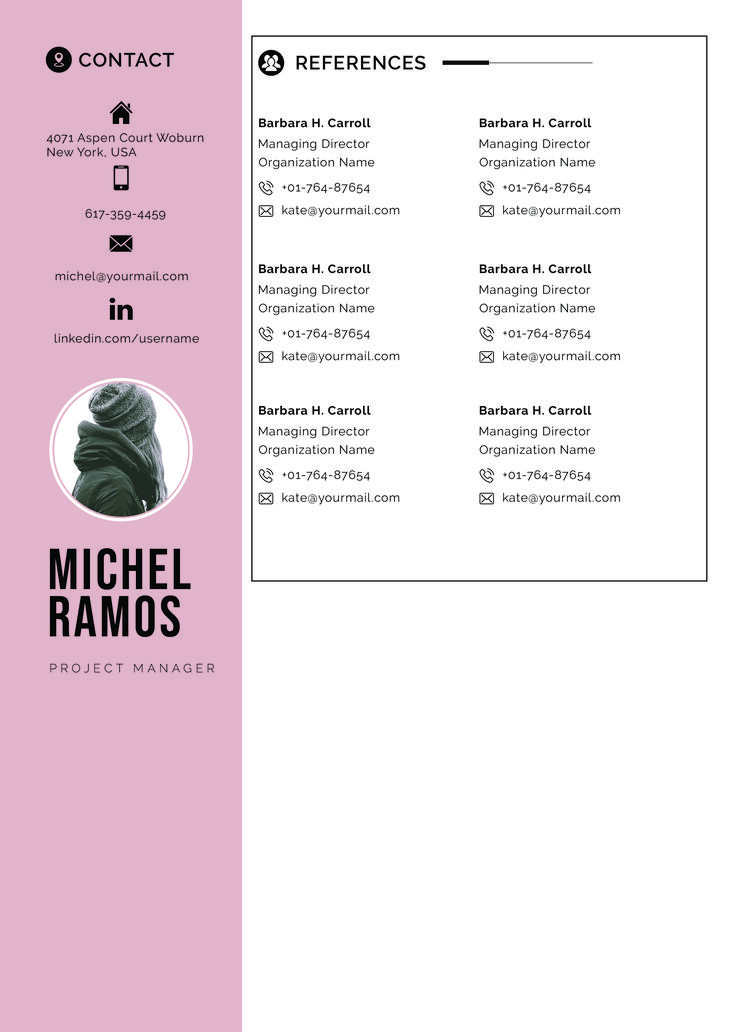 Resume template professional microsoft word creative