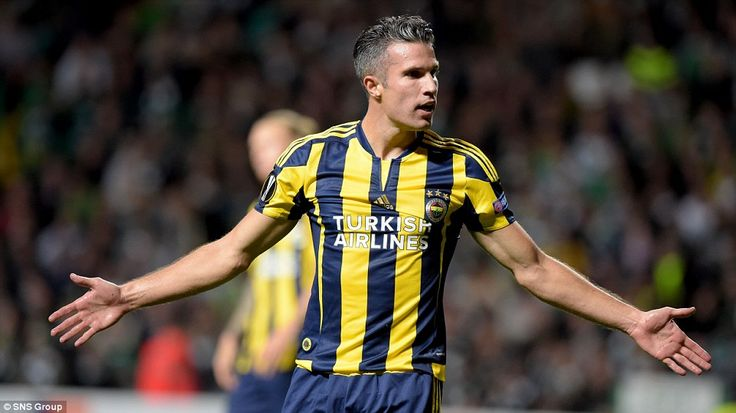 Former Manchester United striker Robin van Persie started for new side Fenerbahce during t...