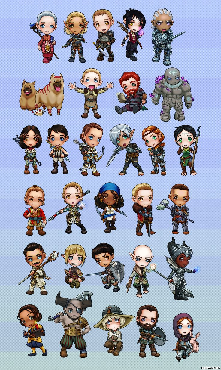 Dragon Age Chibi Set by ghostfire.deviantart.com on @DeviantArt