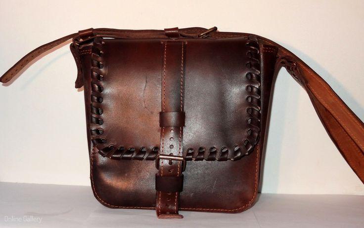 geanta barbati handmade din piele #handmade #leather #bag