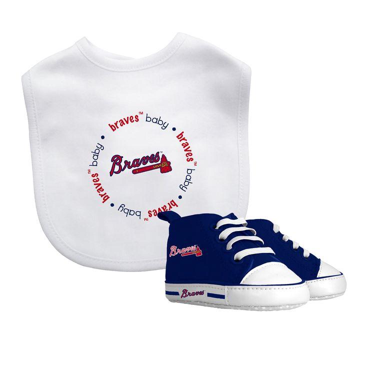 Baby Fanatic MLB Atlanta Braves Bib with Pre-walker Set
