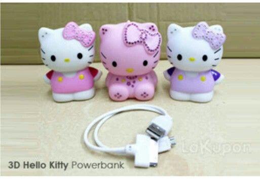 Powerbank 3D Hello Kitty @90rb Ready pink (yang tengah), power 5600Mah Order by BB : 27B24069 CALL : 081234284739 SMS : 082245025275 WA : 08813225767 FB : Vanice Cloething Twitter : @VaniceCloething Instagram : Vanice Cloe