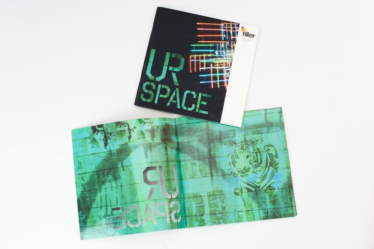 Filter Magazine, cover design, die cut, graphic design, street art concept - Drawcard