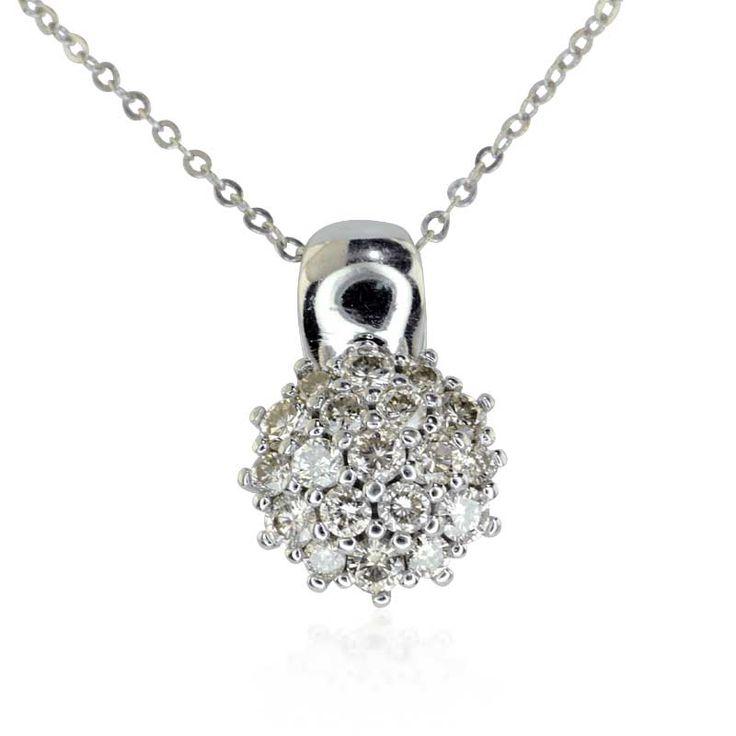 Diamantanhänger 1,0ct #Diamanten in 14 kt Weißgold Ankerkette https://www.schmuck-boerse.com/halsschmuck/30/detail.htm @schmuck_boerse #vintage #2ndhand #jewels #diamonds