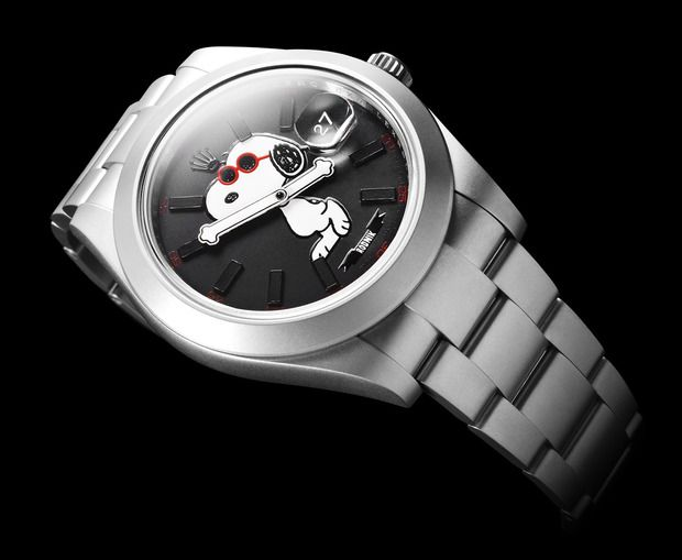 Snoopy + Bamford Watch Department Rolex. Curated by your friends at  https://createamixer.com/