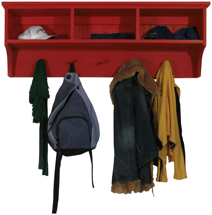Storage Shelf with Cubbies and pegs
