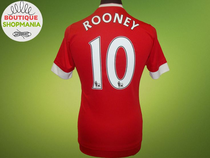 MANCHESTER UNITED HOME 2015-2016 #10 ROONEY (XS-S) ADIDAS FOOTBALL SHIRT Jersey #ADIDAS #MANCHESTERUNITED