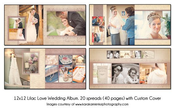 LILAC LOVE  12x12 Album Template 20 spread 40 by KatieAnnDesigns, $35.00