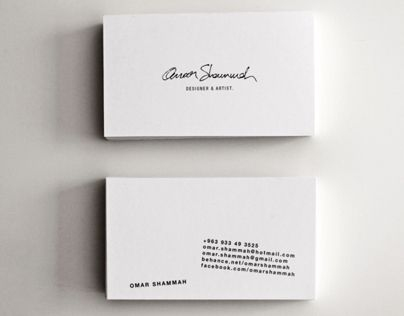 Self Branding - Signature based logo and playful info orientation.