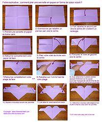 Les 25 meilleures id es de la cat gorie pliage serviette coeur sur pinterest - Pliage serviette en coeur ...