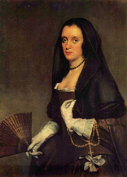Velazques,Lady with a Fan Date circa 1640-1642