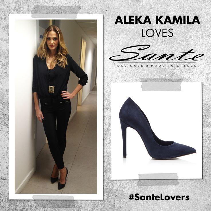 Η Αλέκα Καμηλά με SANTE pumps στην εκπομπή #OlaPaizoun στον Alpha TV #SanteLovers