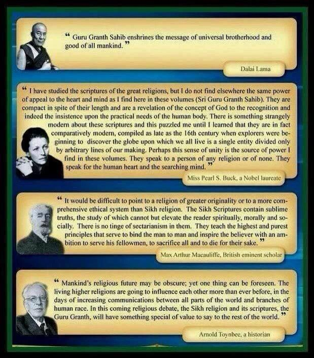 Some Opinions from People around the world on Guru Granth Sahib Ji