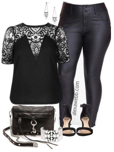 Plus Size Night Out Outfit - Plus Size Fashion for Women - Alexa Webb - alexawebb.com #alexawebb