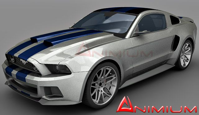 Ford Mustang GT 3d model High polygon, detailed Ford Mustang GT 3d model need for speed edition. Completely detailed exterior and interior. UVW mapped body with stripes matching the NFS movie car. …