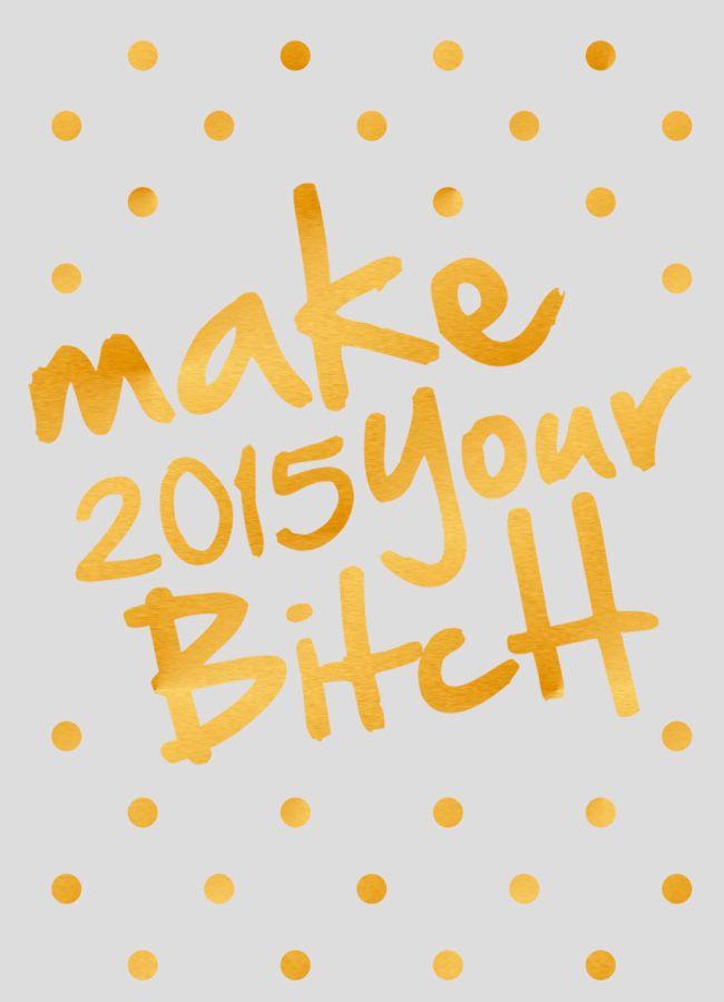 Wallpaper: make 2015 your bitch - Sernaiotto