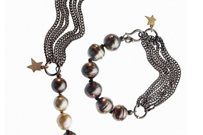 Rock'n Roll bracelet. Armbånd fra Milas Jewellery #tahitianpearls #AllIWantForChristmas #MilasJewellery #bracelet
