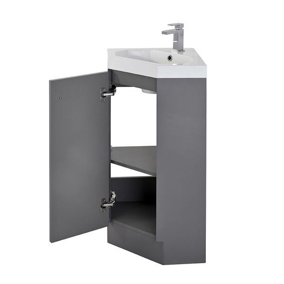 Alpine Duo 420 basin and corner vanity unit   gloss grey   bathstore. 17 Best ideas about Corner Vanity Unit on Pinterest   Corner sink