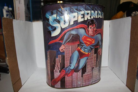 Original Superman Garbage Can 1978 by Nostalgia901 on Etsy