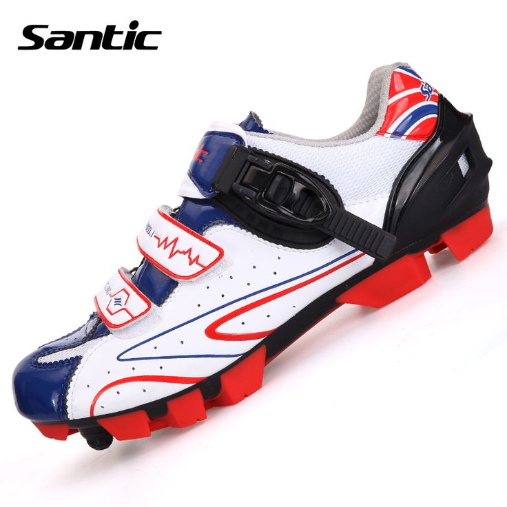Santic MTB Cycling shoes Professional Athletic Bicycle Sports Shoes Auto-Lock Mountain Zapatos Ciclismo