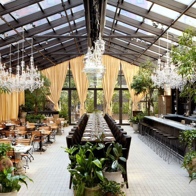 new yorks chicest gardens to brunch in restaurants gardens and city